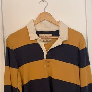 Vintage striped long sleeve polo